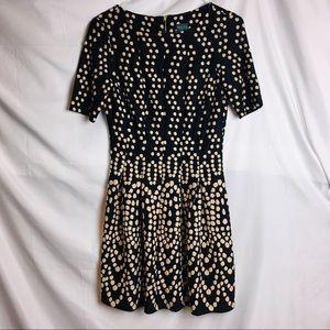 Gabby Skye Polka Dot Black Short Sleeve Dress